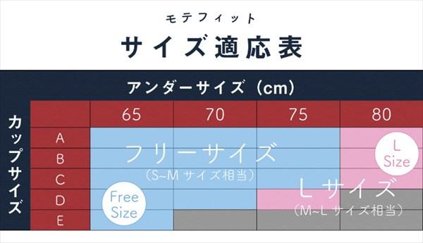 モテフィットのサイズ表