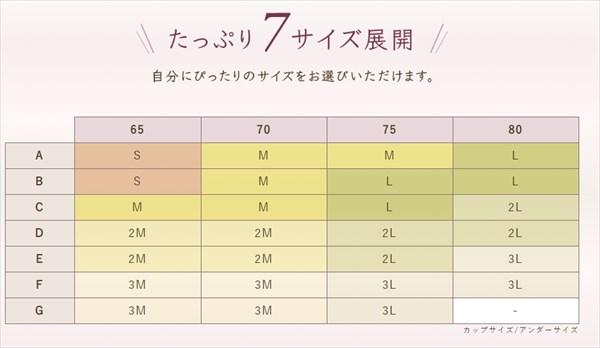ルルクシェルのサイズ表