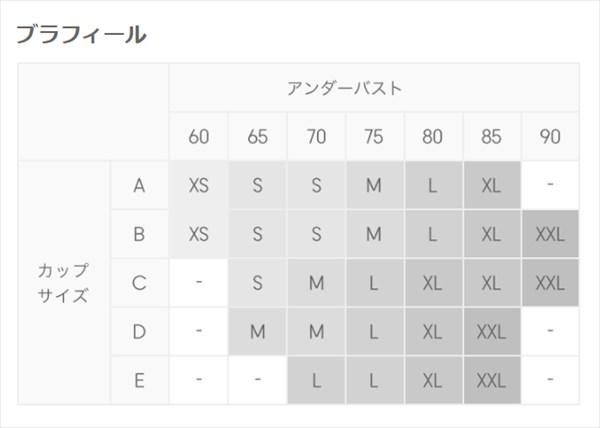 GUのブラフィールのサイズ表