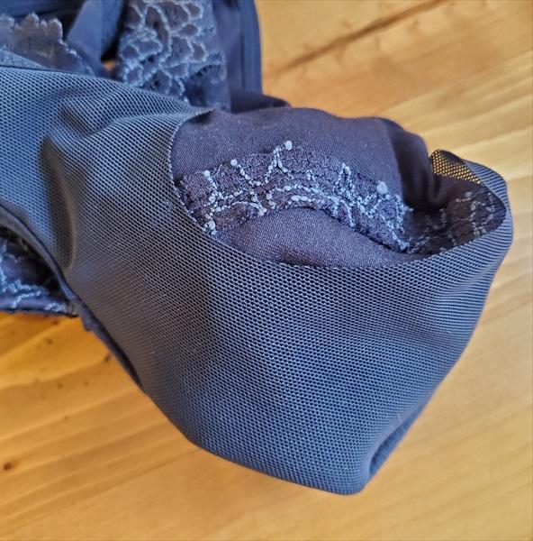 パルファージュのナイトブラ『ナイトアップブラ ドレッシィ』のパッドポケット内側のメッシュ状サポートシート